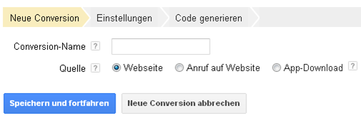 Quellen des Conversion-Trackings