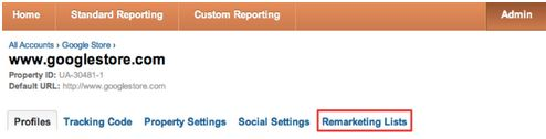 Remarketing Google Analytics