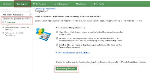 Remarketing Tag erstellen (1)