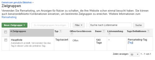 Remarketing Tag erstellen (2)
