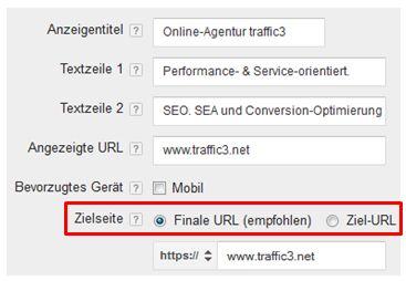 Upgraded URLS - Umstallung auf Finale URL