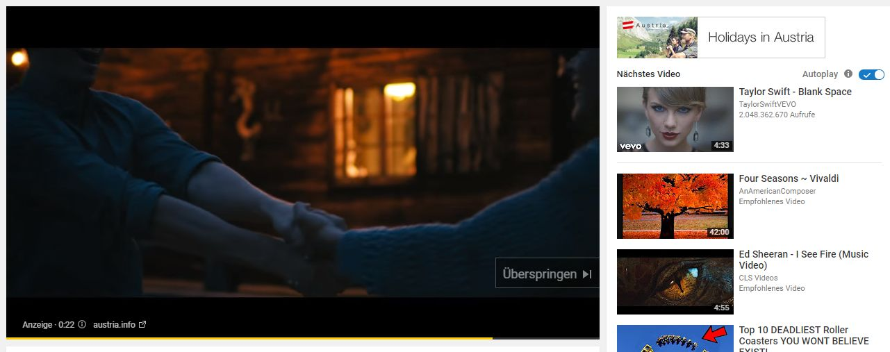 YouTube Videokampagnen - In-Stream mit manuellem Companion Banner
