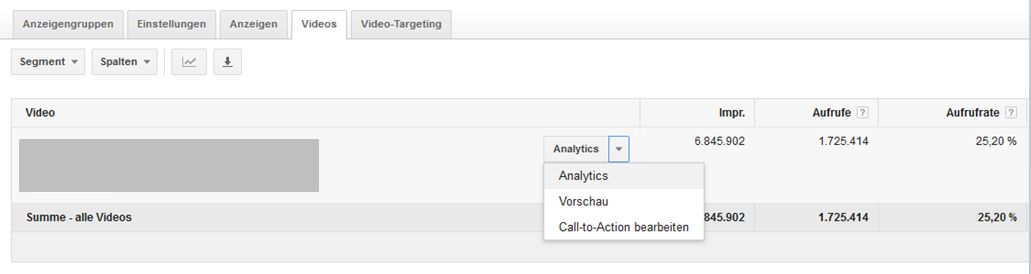 YouTube Videokampagnen - YouTube-Analytics im AdWords-Konto aufrufen