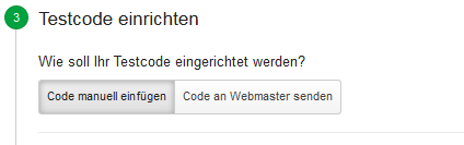 Google Analytics - Testcode konfigurieren