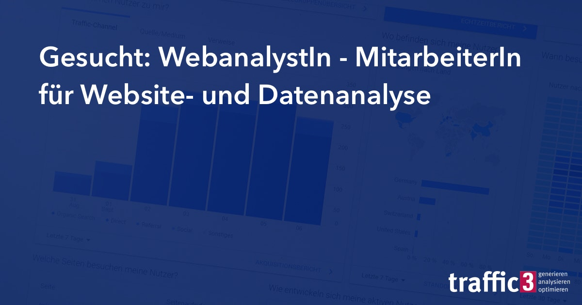 WebanalystIn gesucht